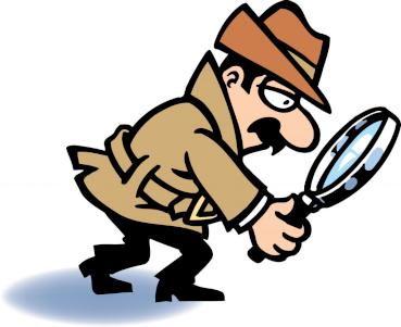 Detetive tentando encontrar uma pista